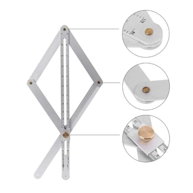 Stainless Steel Corner Angle Finder Ceiling Square Protractor Tool Multi-angle