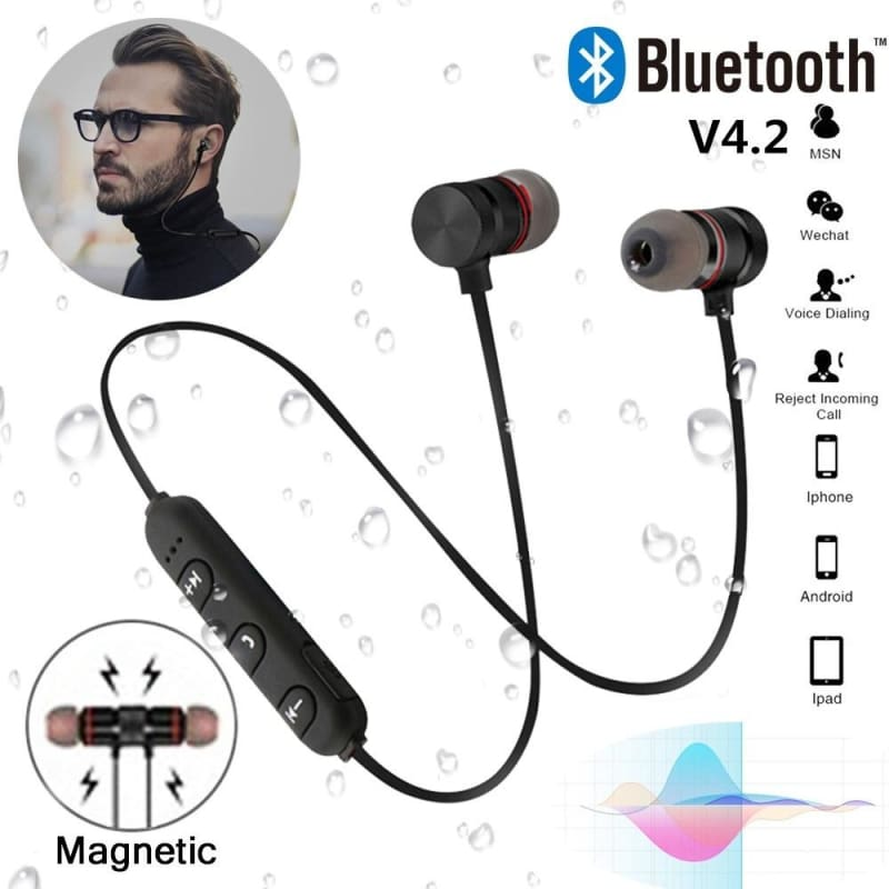 Supper Bass Bluetooth Earphones Wireless Fitness Headphones With Mic Earphones Stereo Headset Music In Ear Earbuds For Iphone Samsung Xiaomi Android Kopfh Rer Fones De Ouvido Auriculares Couteurs Auricolari Cuffia Fashiontto Best Cheap Online