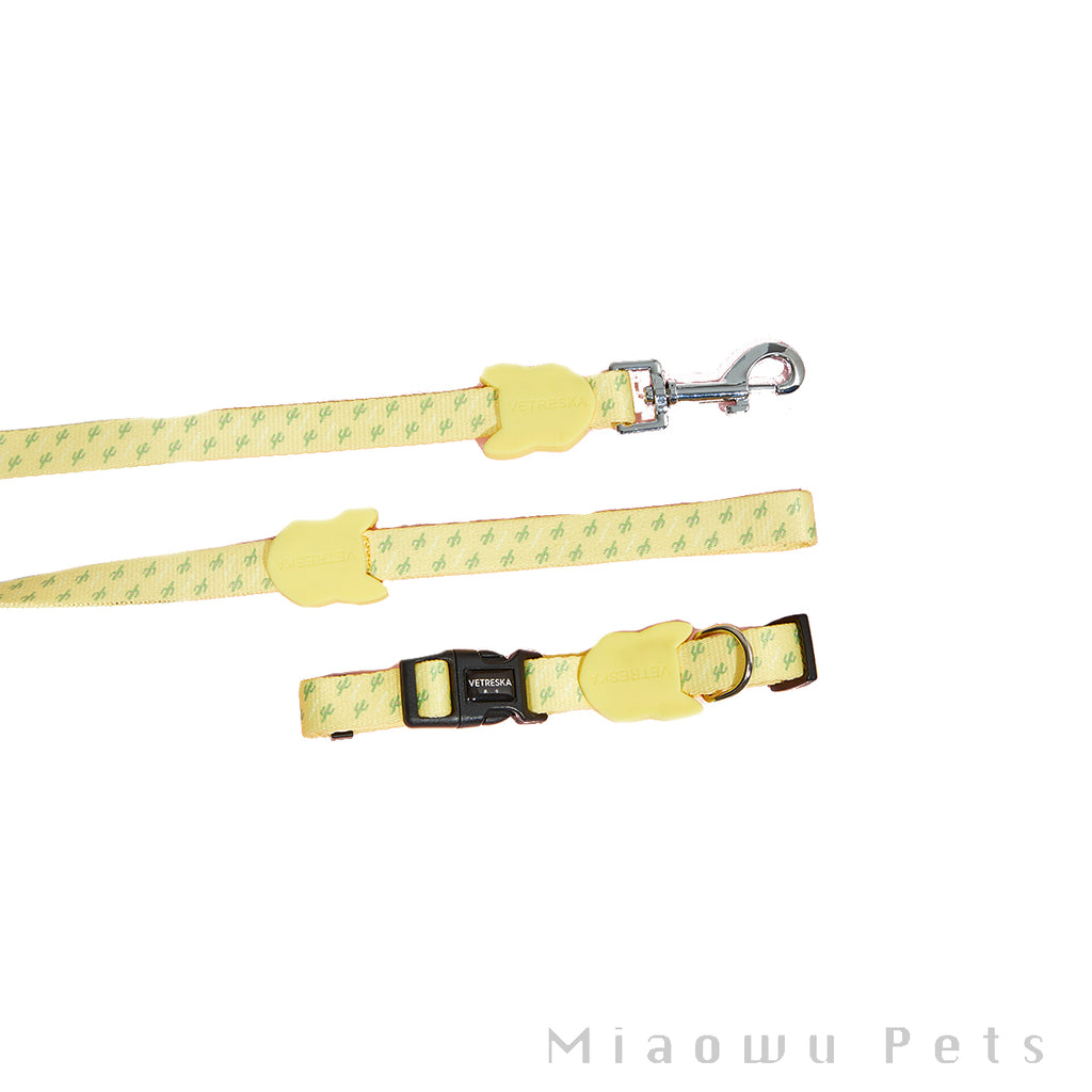 Vetreska Logo Print Dog Collar Set