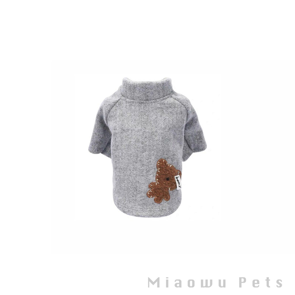 Pet gray bear shirt
