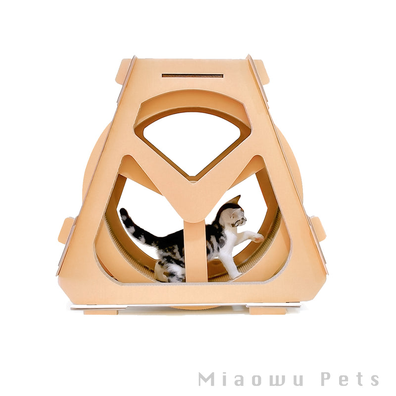 Waterwheel cat scratch climbing frame