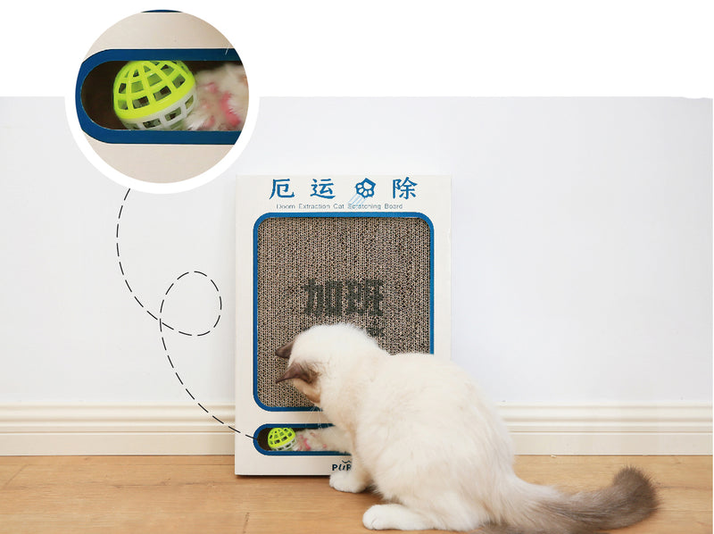 Badluck away Cat scratching board