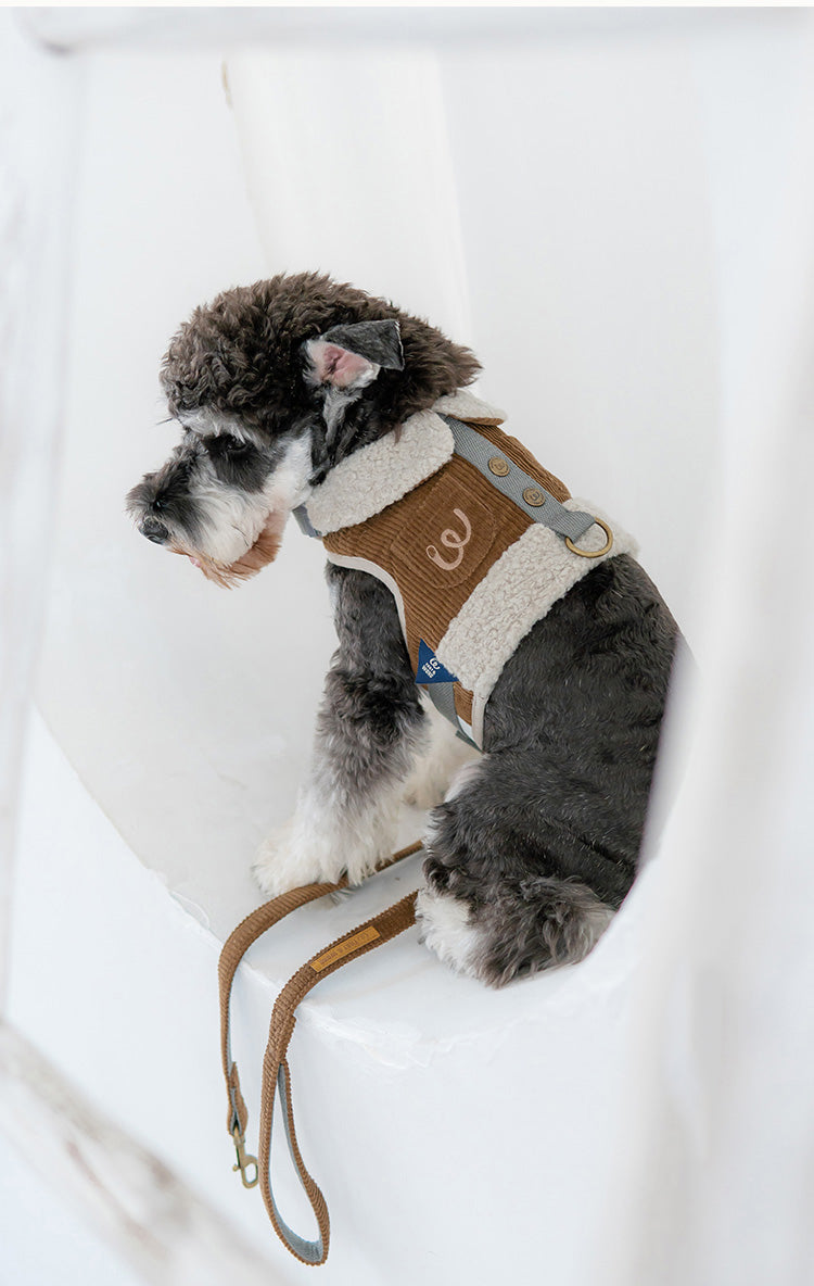 THAT&WONG Lamb cashmere dog harness