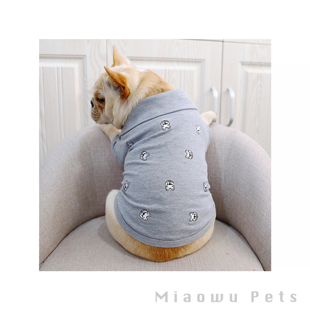 Pet grey spot shirt