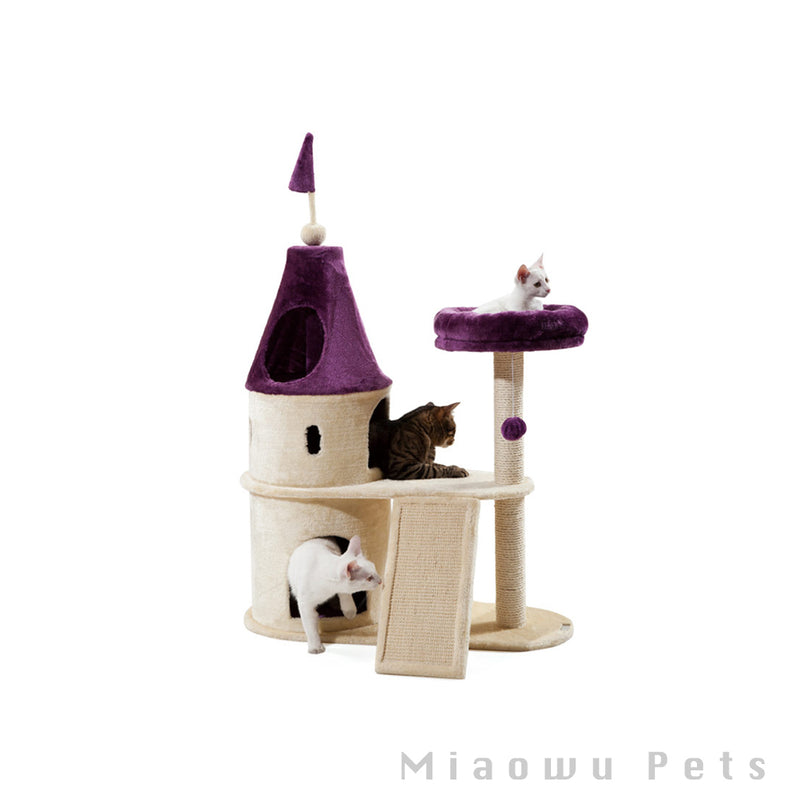 Petla purple castle cat climbing frame