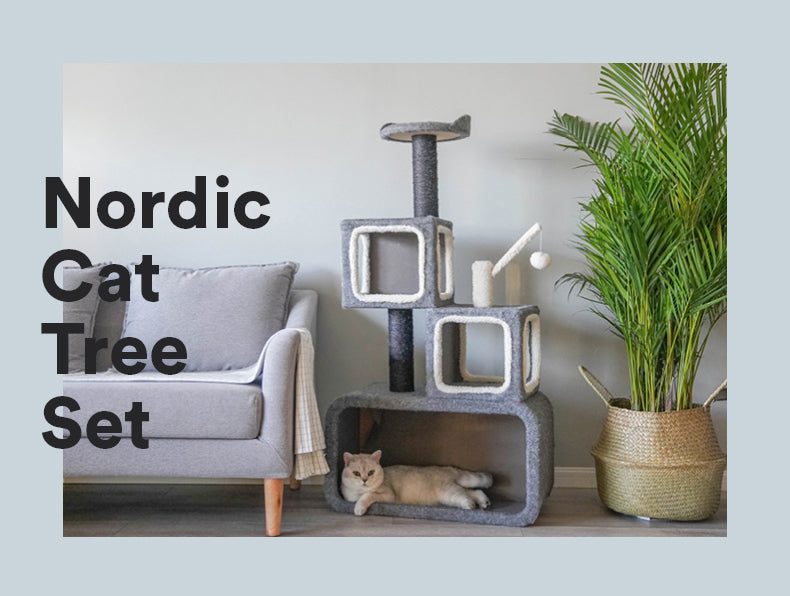Zeze Nordic Cat Tree Set