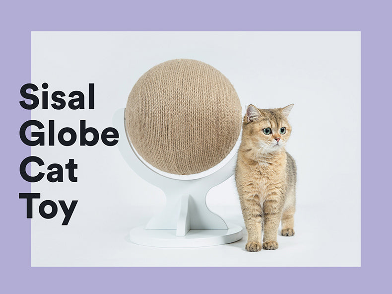 Zeze White Sisal Globe cat toy
