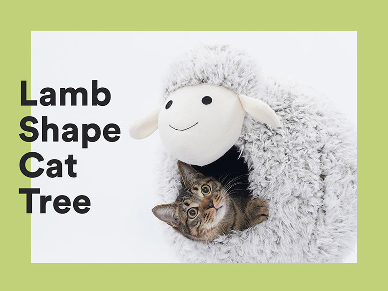 Zeze Lamb shape cat bed tree