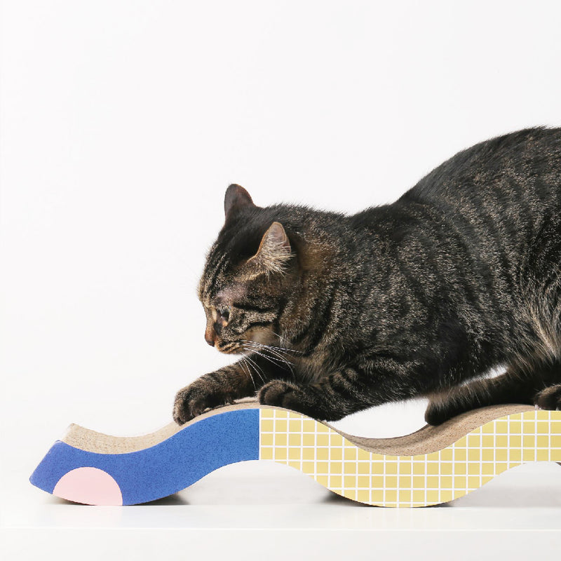 Pidan Scratching Post for Pet Memphis Wave type
