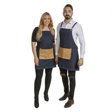 Load image into Gallery viewer, Denim Barber Apron