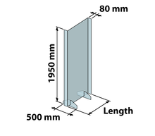 Load image into Gallery viewer, Sneeze Shield Screen Acrylic Floor-Standing 1950 mm