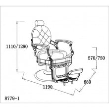 Load image into Gallery viewer, Vintage Barber Chair CLINT Brown