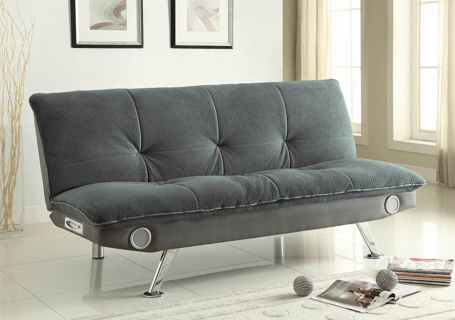 Elevated Grey Bluetooth Futon