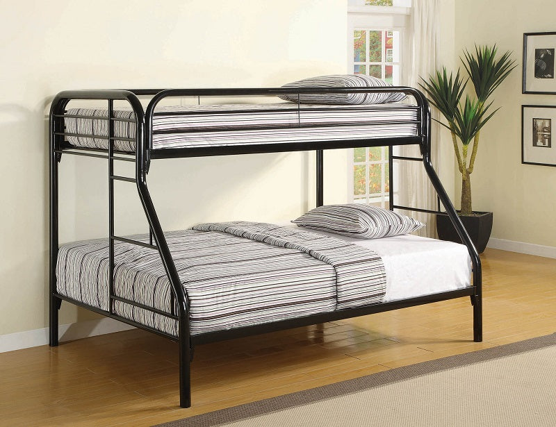 Twin-Over-Full Black Bunk Bed