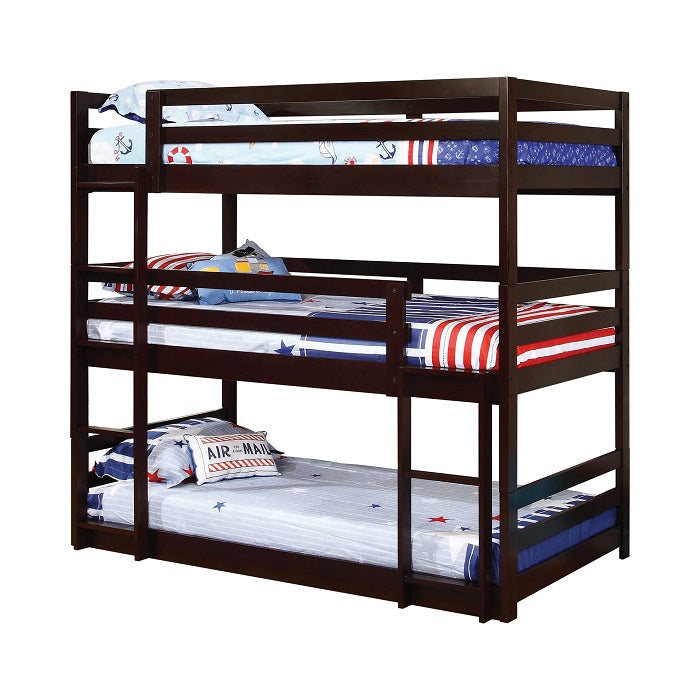 Three Bed Cappuccino Bunk Bed