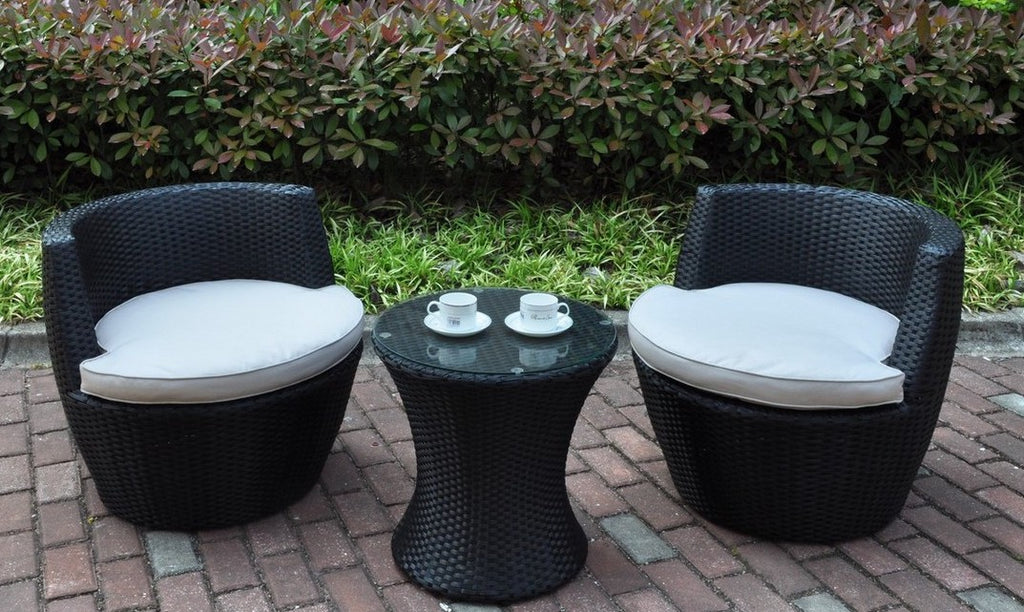 Dark Brown 3-Piece Patio Set