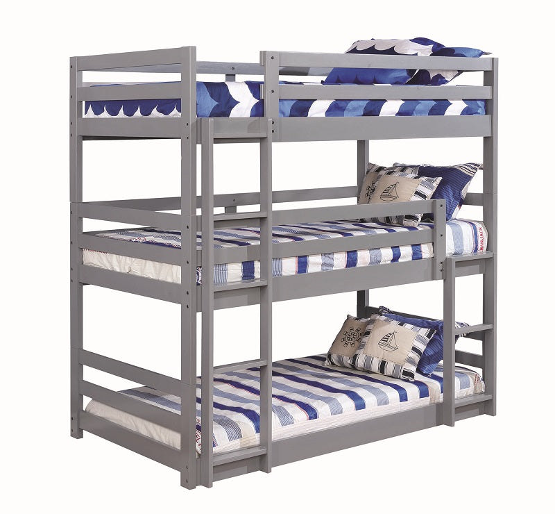 Three Bed Grey Bunk Bed