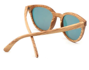 Aria Wood Cat Eye Sunglasses - 33902 Free Shipping