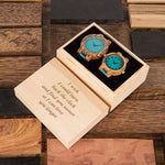 Blue Leather Wooden Watch - 200034143 Free Shipping