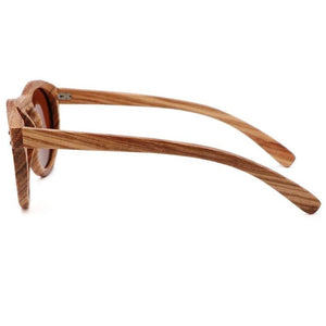 Breezy Mirror Wood Sunglasses - 33902 Free Shipping