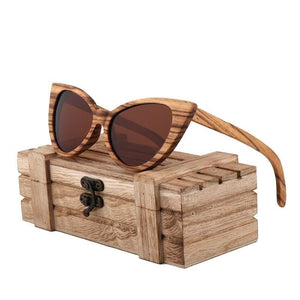 fashion sunglasses women luxury retro polarized woode sunglasses designer sunglasses men high quality UV400 gafas de sol hombre - Brown -