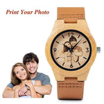 Engraved Dial Wood Watch - 200034143 Free Shipping
