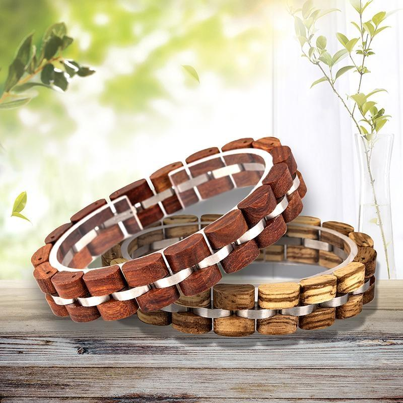 Parallel Star Wooden Bracelet - 200000147 Free Shipping
