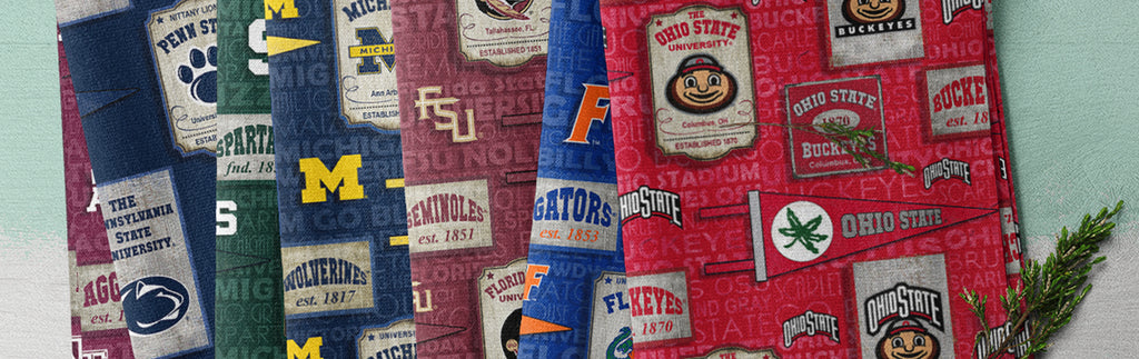 NEW NCAA / Vintage Pennant Allover Cotton