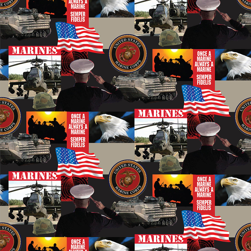 MILITARY MARINES-021M Cotton
