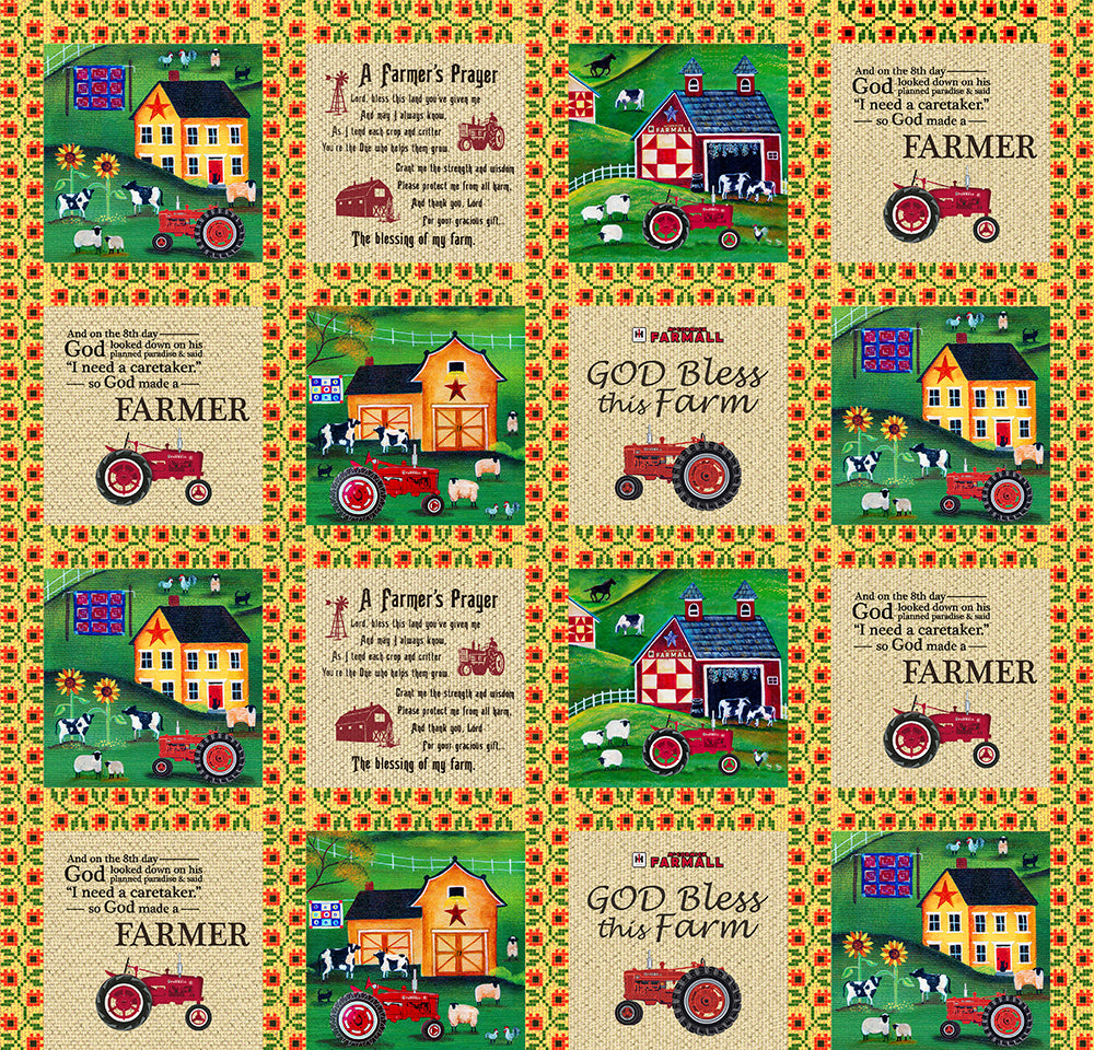 FARMALL / FOLK ART SAMPLER-10207F  Cotton