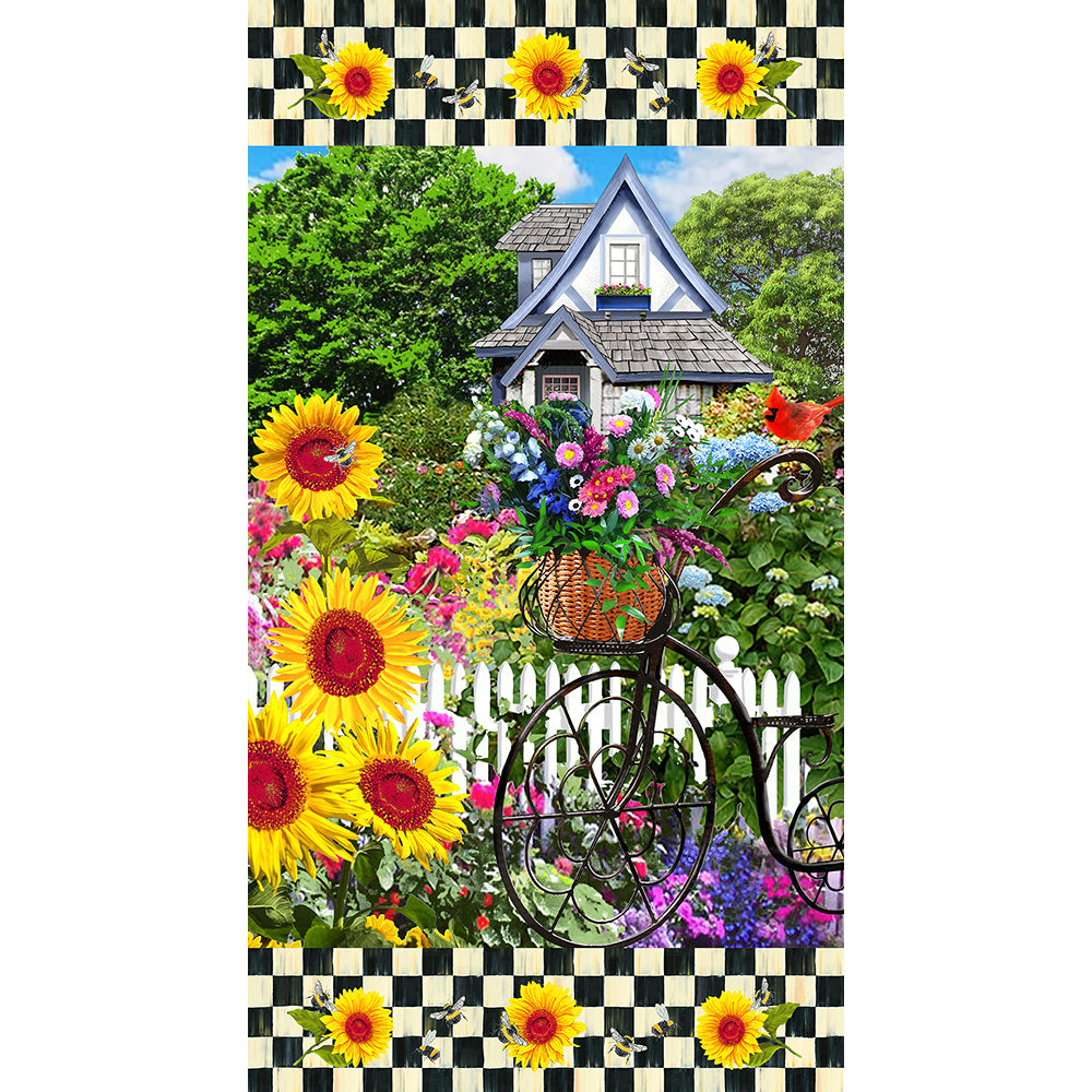SUNSHINE & BUMBLEBEES COTTON PANEL-10353