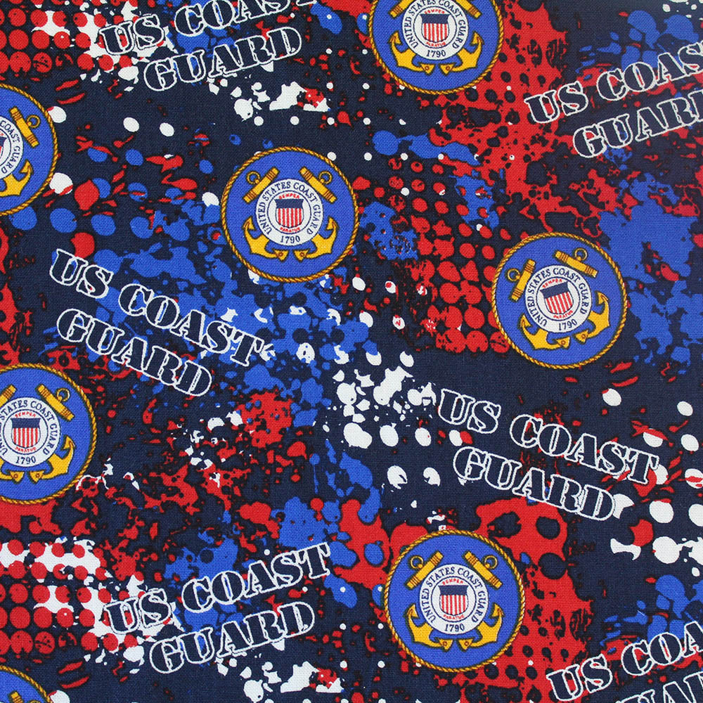 MILITARY COAST GUARD ABSTRACT GEO LOGO ALLOVER-1180CG Cotton