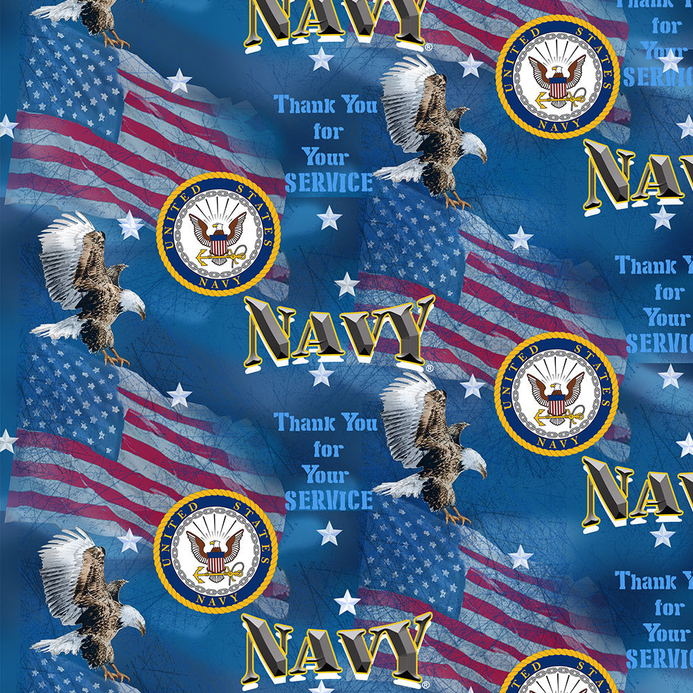 MILITARY NAVY MILITARY FLAGS-1253 N Cotton