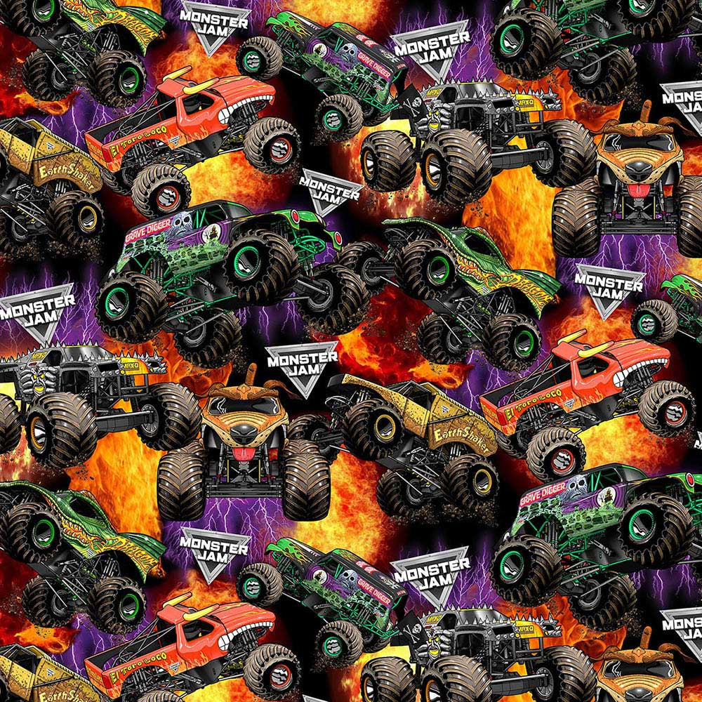 PACKED MONSTER TRUCKS-1561 Fleece