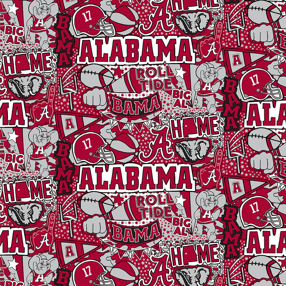 UNIV. OF ALABAMA-1236 Chamois Minky / ARTWORK BY COREY PAIGE