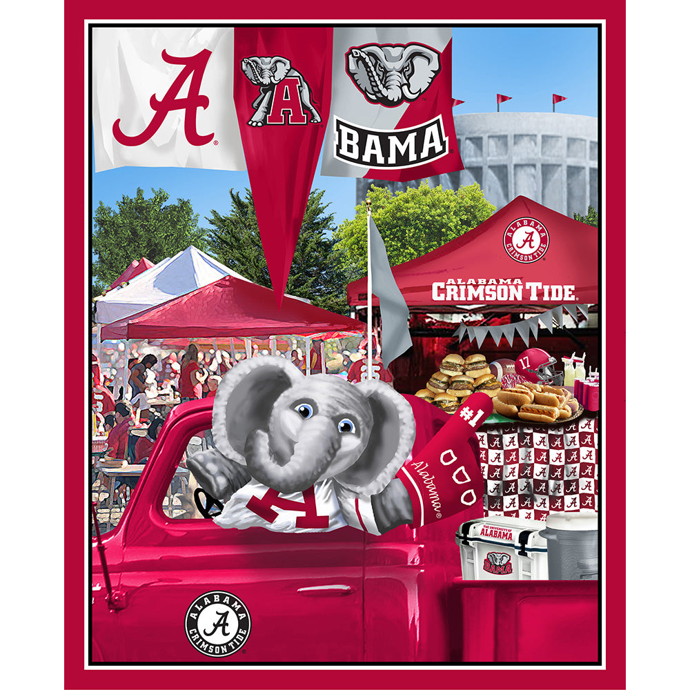UNIV. OF ALABAMA-1157 Tailgate Cotton Panel