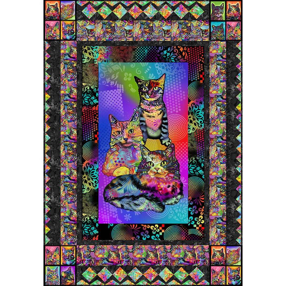 CRAZY FOR CATS Quilt Instruction