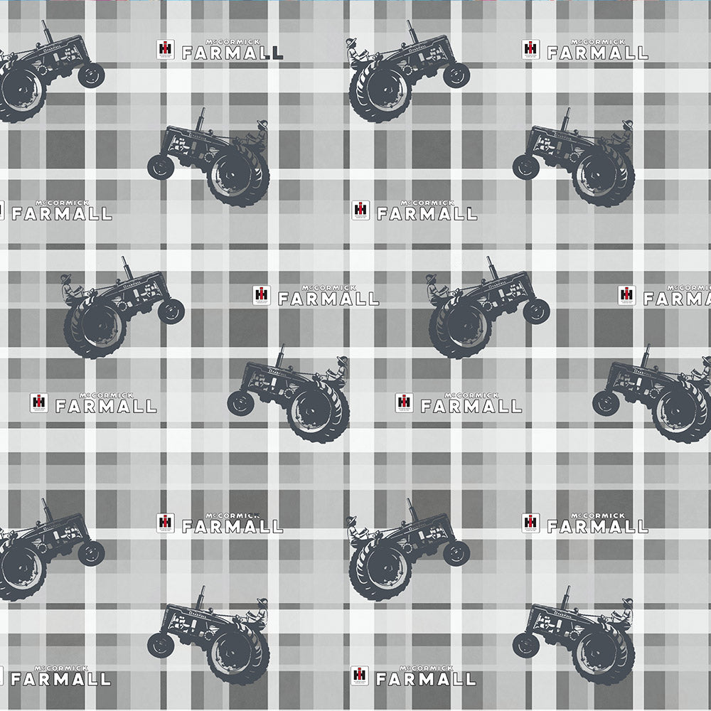 FARMALL PLAID-GRAY / COUNTRY LIVING-10294-Gray Cotton
