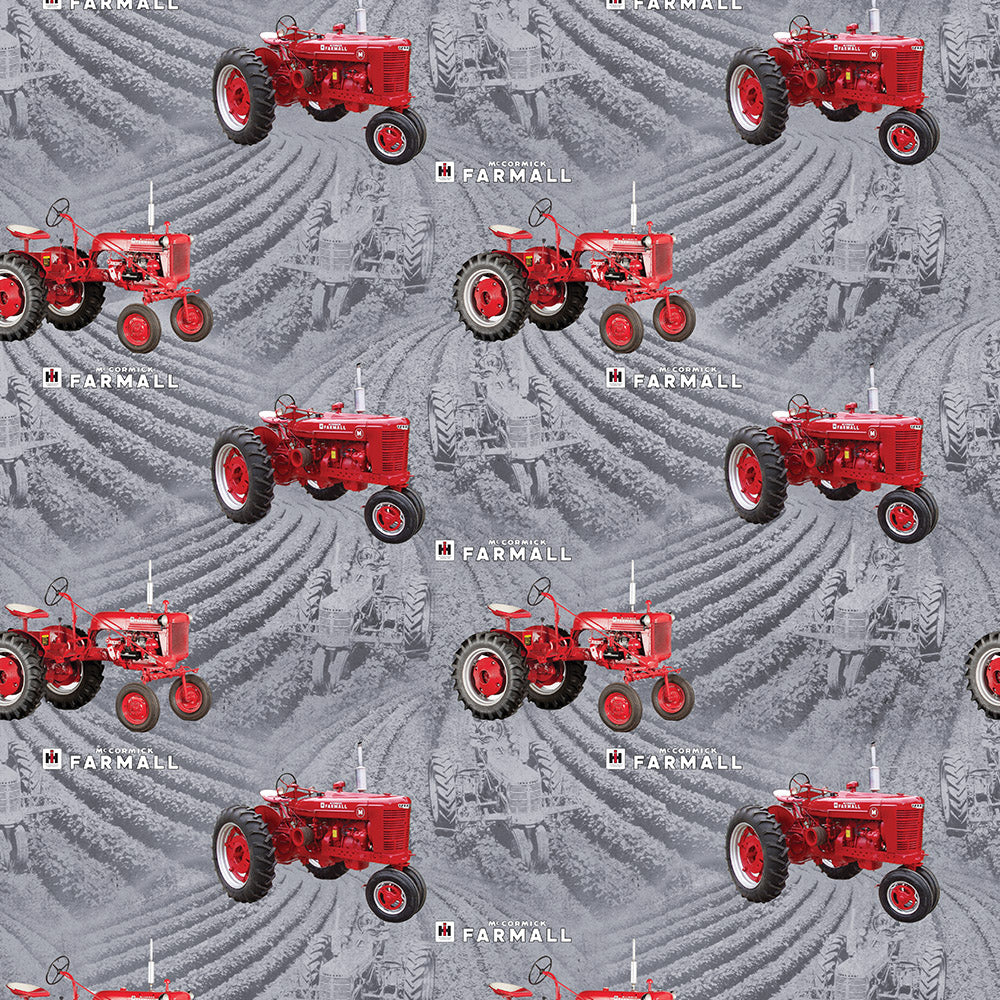 FARMALL FIELDS-GRAY / COUNTRY LIVING-10295-Gray Cotton