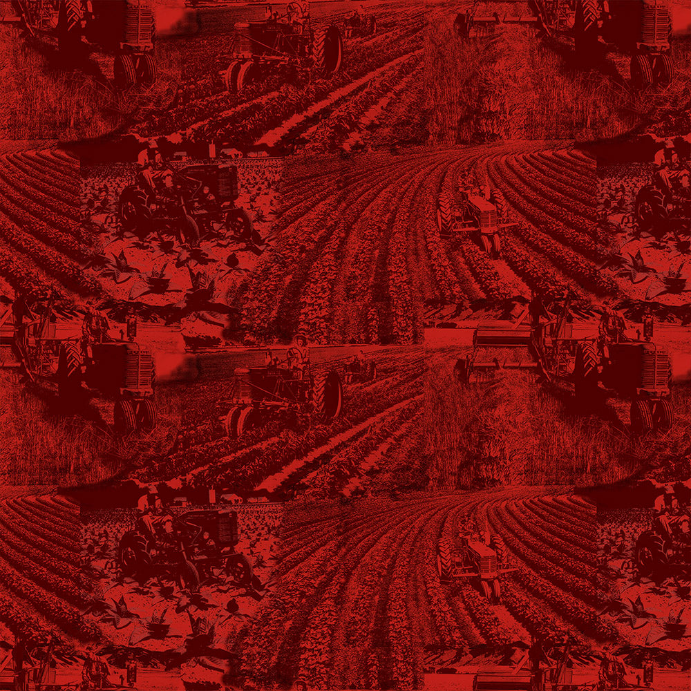 FARMALL TOILE-RED / COUNTRY LIVING-10298-Red Cotton