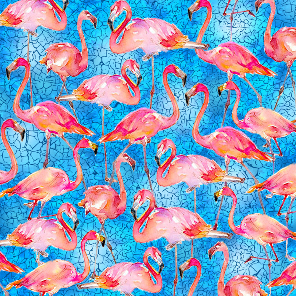 PACKED FLAMINGOS-10292 Cotton