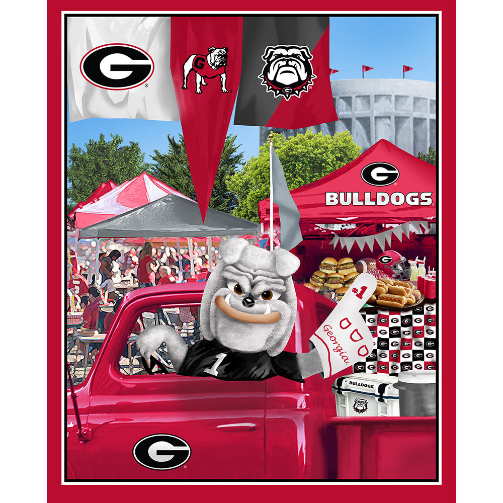 UNIV. OF GEORGIA-1157 Tailgate Cotton Panel
