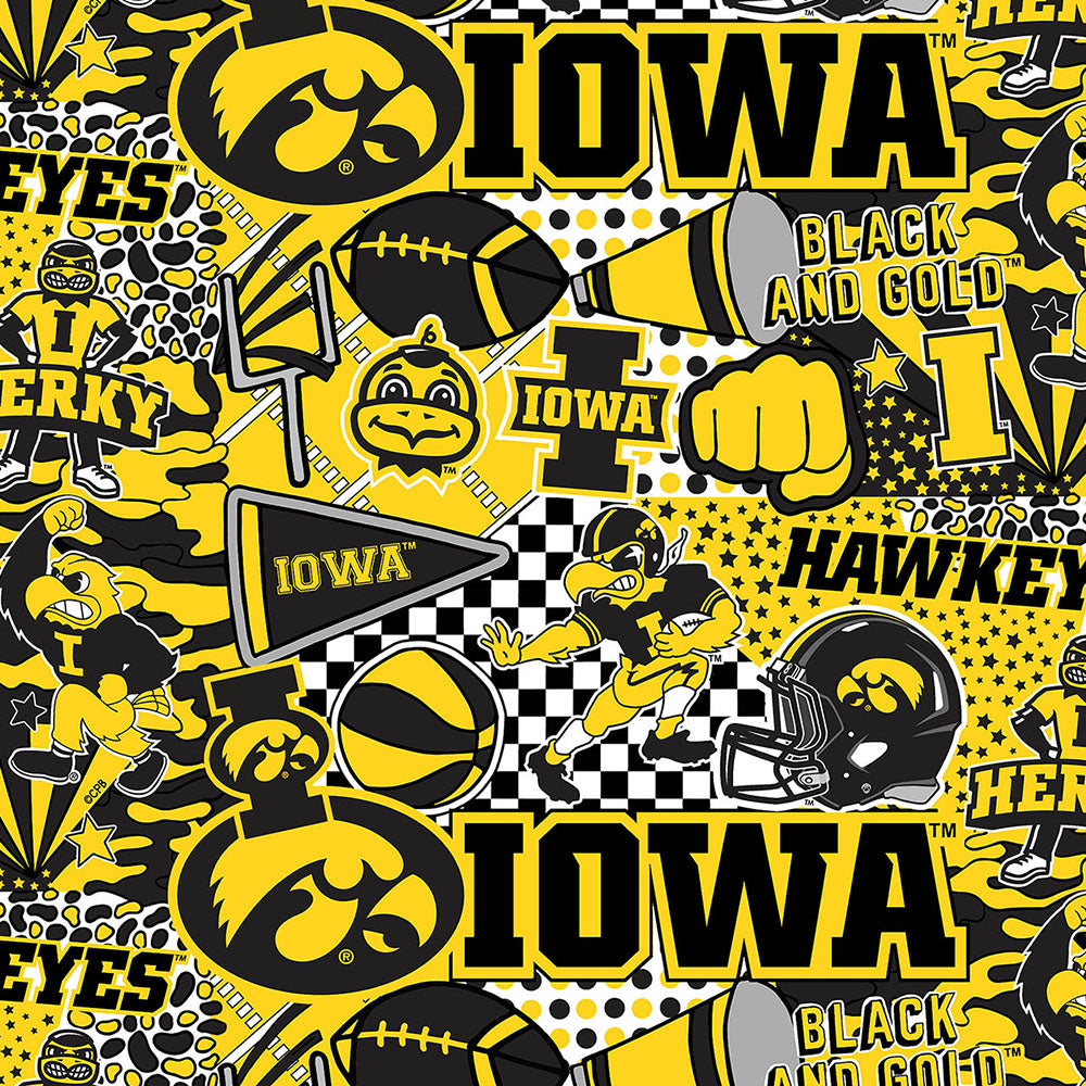UNIV. OF IOWA-1165 Cotton / ARTWORK BY COREY PAIGE