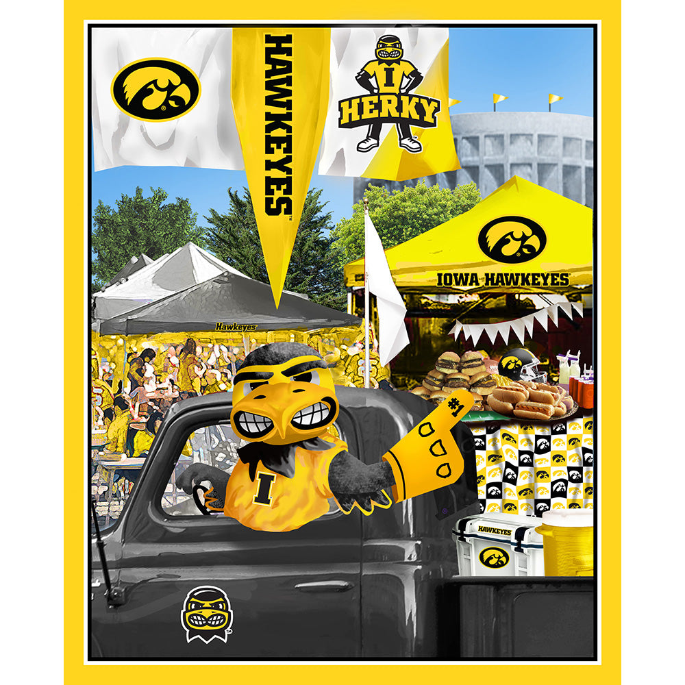 UNIV. OF IOWA-1157 Tailgate Cotton Panel