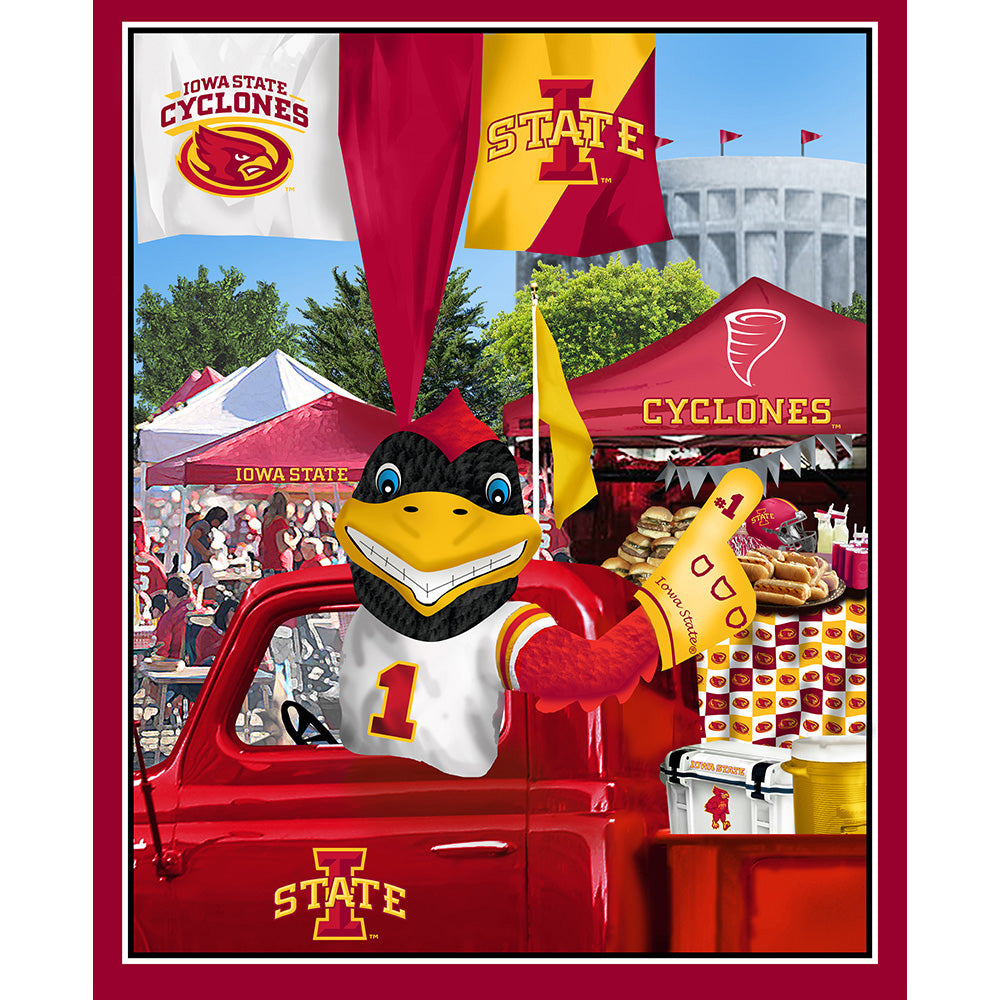 IOWA STATE UNIVERSITY-1157 Tailgate Cotton Panel