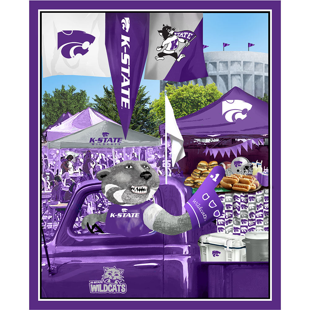 KANSAS STATE UNIVERSITY-1157 Tailgate Cotton Panel