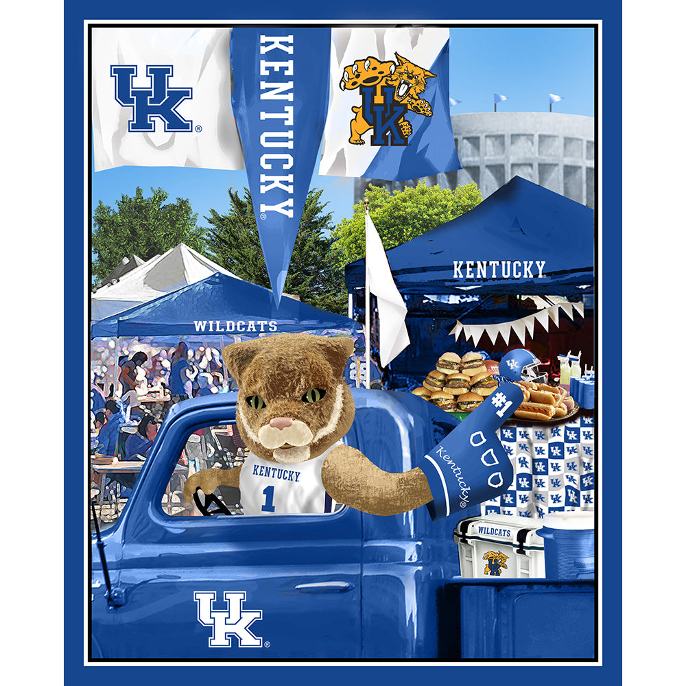 UNIV. OF KENTUCKY-1157 Tailgate Cotton Panel