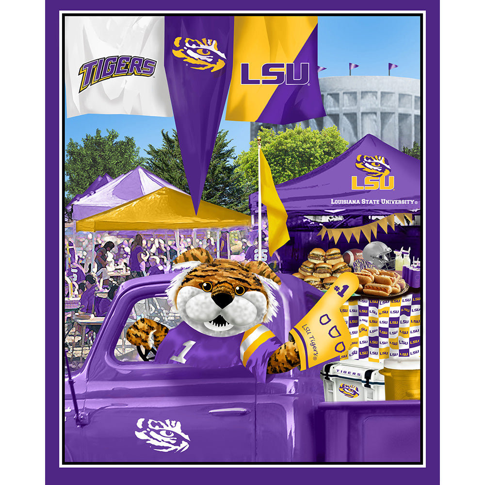 LOUISIANA STATE UNIVERSITY-1157 Tailgate Cotton Panel