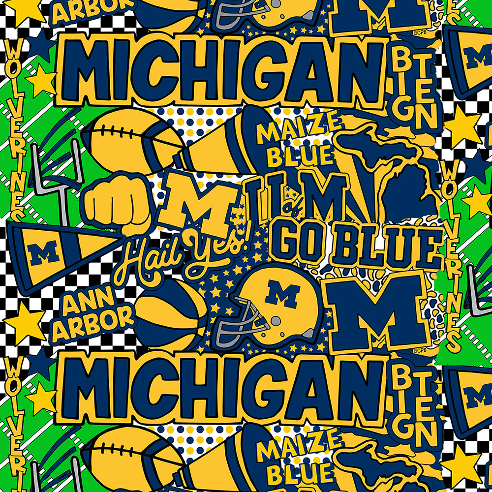 UNIV. OF MICHIGAN-1165 ARTWORK BY COREY PAIGE