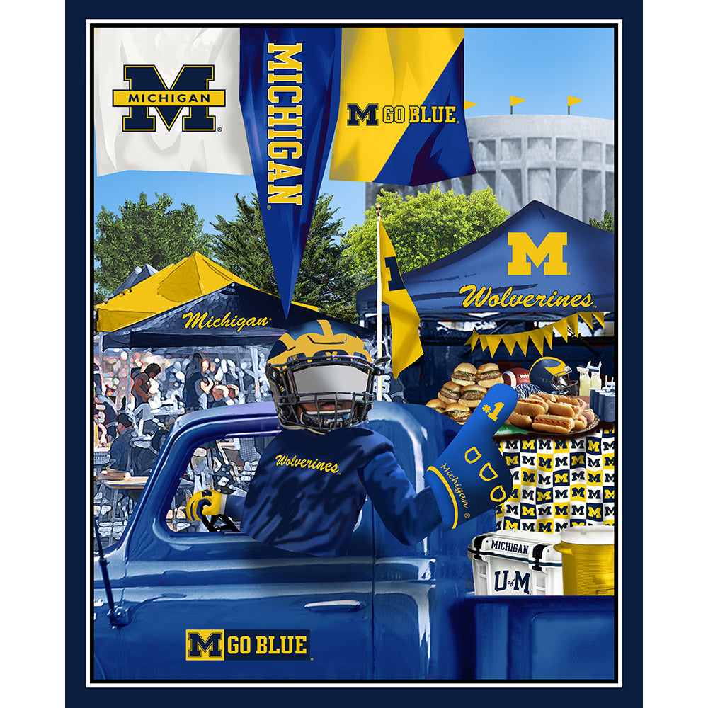 UNIV. OF MICHIGAN-1157 Tailgate Cotton Panel